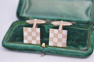 【送料無料】メンズアクセサリ― ビンテージスターリングシルバーアールデコデザインカフリンクスvintage sterling silver cufflinks with an art deco design b733
