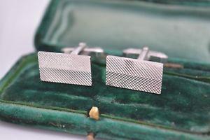 【送料無料】メンズアクセサリ― ビンテージスターリングシルバーアールデコデザインカフリンクスvintage sterling silver cufflinks with an art deco design b452