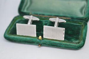 【送料無料】メンズアクセサリ― ビンテージスターリングシルバーアールデコデザインカフリンクスvintage sterling silver cufflinks with an art deco design b800