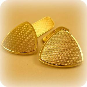 【送料無料】メンズアクセサリ― カフスボタンゴールド9ct gold on silver gents cufflinks