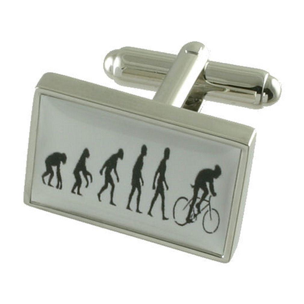 【送料無料】メンズアクセサリ― スポーツサイクリストカフスボタンサイクリストボックスオンsports cyclist cufflinks road cyclist bicycle engraved personalised box