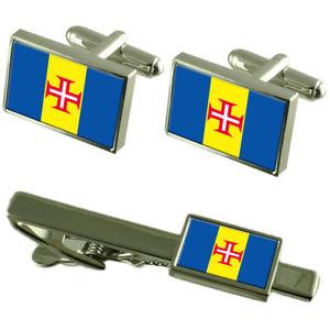 【送料無料】メンズアクセサリ― マデイラカフスボタンタイクリップマッチングボックスセットmadeira flag cufflinks tie clip matching box gift set