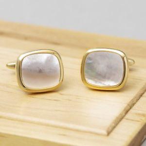 【送料無料】メンズアクセサリ― パールスクエアカフスボタンmother of pearl square cufflinks