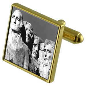 【送料無料】メンズアクセサリ― マウントラシュモアカフスボタンクリスタルタイクリップセットmount rushmore goldtone cufflinks crystal tie clip gift set