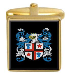 【送料無料】メンズアクセサリ― イングランドカフスボタンボックスコートtarr england family crest surname coat of arms gold cufflinks engraved box