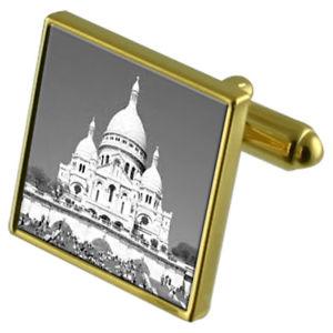 【送料無料】メンズアクセサリ― サクレクールカフスボタンクリスタルタイクリップセットsacre coeur goldtone cufflinks crystal tie clip gift set