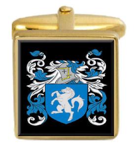 【送料無料】メンズアクセサリ― マクナブスコットランドカフスボタンボックスコートmcnab scotland family crest surname coat of arms gold cufflinks engraved box