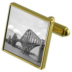 【送料無料】メンズアクセサリ― ブリッジカフスボタンクリスタルタイクリップセットforth bridge goldtone cufflinks crystal tie clip gift set