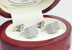 【送料無料】メンズアクセサリ― イアンフラハティカフスボタンメンズレディースカフスボタンカットian flaherty princess cut crystal 3d cube cufflinks, mens or ladies cufflinks