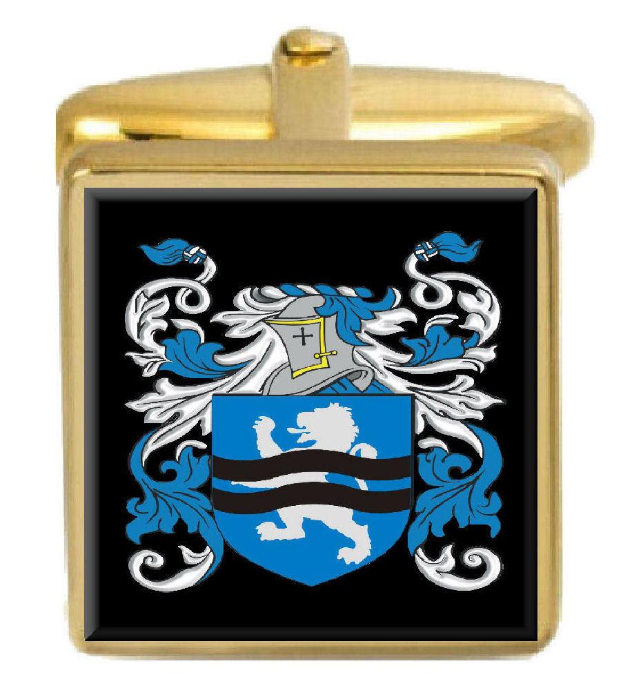 【送料無料】メンズアクセサリ― イングランドカフスボタンボックスファミリークレストコートillingworth england family crest coat of arms gold cufflinks engraved box