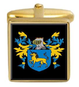 【送料無料】メンズアクセサリ― イングランドカフスボタンボックスコートeades england family crest surname coat of arms gold cufflinks engraved box