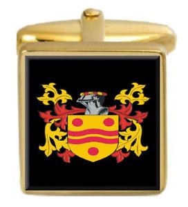 【送料無料】メンズアクセサリ― スコットランドカフスボタンボックスファミリークレストコートelphinstone scotland family crest coat of arms gold cufflinks engraved box