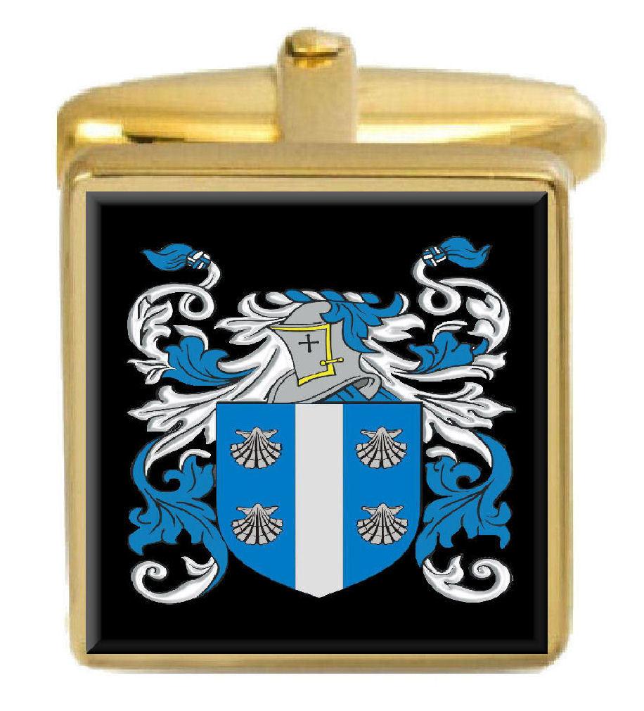 【送料無料】メンズアクセサリ― アイルランドカフスボタンボックスコートteague ireland family crest surname coat of arms gold cufflinks engraved box