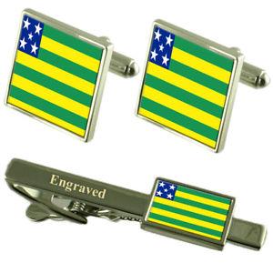 【送料無料】メンズアクセサリ― フラグカフスボタンタイクリップマッチングボックスgois flag cufflinks engraved tie clip matching box set