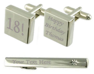 【送料無料】メンズアクセサリ― カフスボタンタイクリップボックスbirthday age year engraved cufflinks tie clip box set