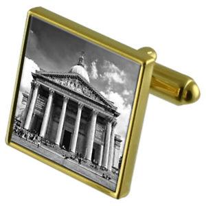 【送料無料】メンズアクセサリ― パンテオンギリシャカフスボタンクリスタルタイクリップセットpantheon greece goldtone cufflinks crystal tie clip gift set