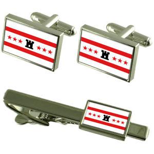 【送料無料】メンズアクセサリ― フラグカフスボタンタイクリップマッチングボックスセットdrenthe flag cufflinks tie clip matching box gift set