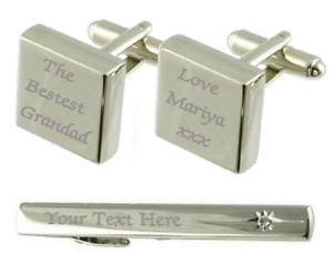 【送料無料】メンズアクセサリ― カフスボタンタイクリップボックスbestest grandad engraved cufflinks tie clip box set