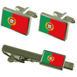 【送料無料】メンズアクセサリ― ポルトガルカフスボタンタイクリップマッチングボックスセットportugal flag cufflinks tie clip matching box gift set