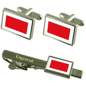 【送料無料】メンズアクセサリ― シャルジャカフスボタンタイクリップマッチングボックスsharjah flag cufflinks engraved tie clip matching box set