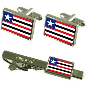 【送料無料】メンズアクセサリ― フラグカフスボタンタイクリップマッチングボックスmaranho flag cufflinks engraved tie clip matching box set