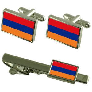 【送料無料】メンズアクセサリ― アルメニアカフスボタンタイクリップマッチングボックスセットarmenia flag cufflinks tie clip matching box gift set