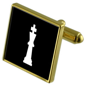 【送料無料】メンズアクセサリ― チェスキングカフスボタンクリスタルタイクリップセットchess king goldtone cufflinks crystal tie clip gift set