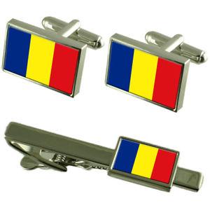 【送料無料】メンズアクセサリ― フラグカフスボタンタイクリップマッチングボックスセットromnia flag cufflinks tie clip matching box gift set
