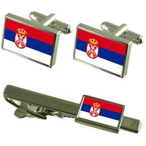 【送料無料】メンズアクセサリ― セルビアカフスボタンタイクリップマッチングボックスセットserbia flag cufflinks tie clip matching box gift set