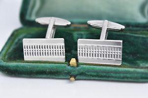【送料無料】メンズアクセサリ― ビンテージスターリングシルバーアールデコデザインカフリンクスvintage sterling silver cufflinks with an art deco design g37