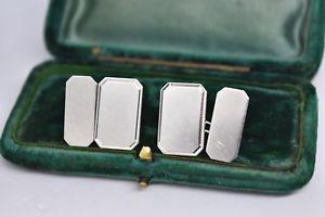 【送料無料】メンズアクセサリ― ビンテージスターリングシルバーアールデコカフリンクスvintage sterling silver cufflinks with an art deco engravable design b124