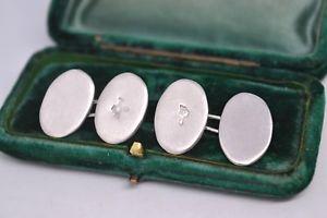 【送料無料】メンズアクセサリ― ビンテージスターリングシルバーアールデコデザインカフリンクスvintage sterling silver cufflinks with an art deco design b808