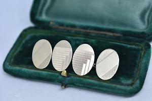 【送料無料】メンズアクセサリ― ビンテージスターリングシルバーアールデコデザインカフリンクスvintage sterling silver cufflinks with an art deco design b875