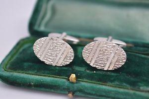 【送料無料】メンズアクセサリ― ビンテージスターリングシルバーアールデコデザインカフリンクスvintage sterling silver cufflinks with an art deco design from 1977 b435