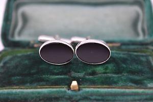 【送料無料】メンズアクセサリ― ビンテージアールデコスターリングシルバーオニキスカフリンクスvintage art deco sterling silver cufflinks with an onyx insert g25