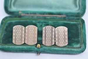 【送料無料】メンズアクセサリ― ビンテージスターリングシルバーアールデコデザインカフリンクスvintage sterling silver cufflinks with an art deco design b577