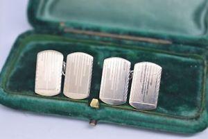 【送料無料】メンズアクセサリ― ビンテージスターリングシルバーアールデコデザインカフリンクスvintage sterling silver cufflinks with an art deco design b846