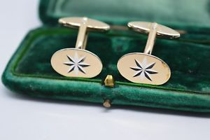 【送料無料】メンズアクセサリ― ビンテージアールデコゴールドプレートスターリングシルバーカフリンクスvintage art deco sterling silver cufflinks with a 9ct gold plate b245