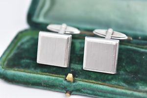 【送料無料】メンズアクセサリ― ビンテージスターリングシルバーアールデコデザインカフリンクスvintage sterling silver cufflinks with an art deco design g47