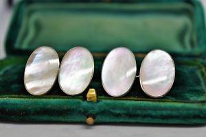 【送料無料】メンズアクセサリ― ビンテージスターリングシルバーパールデザインアールデコカフリンクスvintage sterling silver cufflinks with an art deco mother of pearl design b890