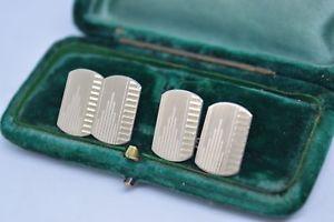 【送料無料】メンズアクセサリ― ビンテージスターリングシルバーアールデコデザインカフリンクスvintage sterling silver cufflinks with an art deco design b549