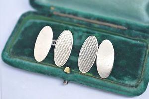 【送料無料】メンズアクセサリ― ビンテージスターリングシルバーアールデコデザインカフリンクスvintage sterling silver cufflinks with an art deco design b844