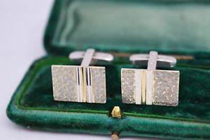【送料無料】メンズアクセサリ― ビンテージスターリングシルバーアールデコデザインカフリンクスvintage sterling silver cufflinks with an art deco design b104