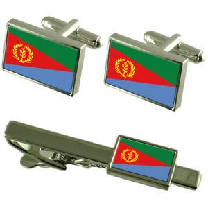 【送料無料】メンズアクセサリ― エリトリアカフスボタンタイクリップマッチングボックスセットeritrea flag cufflinks tie clip matching box gift set
