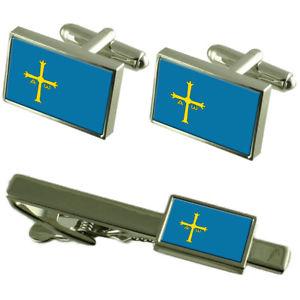 【送料無料】メンズアクセサリ― アストゥリアスカフスボタンタイクリップマッチングボックスセットasturias flag cufflinks tie clip matching box gift set