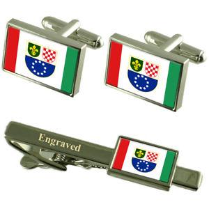 【送料無料】メンズアクセサリ― カフスボタンタイクリップマッチングボックスbosniaccroat federation flag cufflinks engraved tie clip matching box set