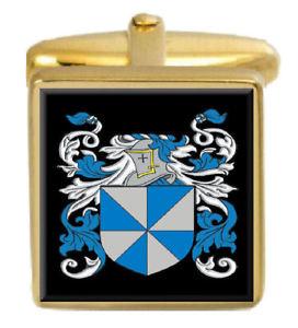 【送料無料】メンズアクセサリ― スコットランドカフスボタンボックスコートsinger scotland family crest surname coat of arms gold cufflinks engraved box