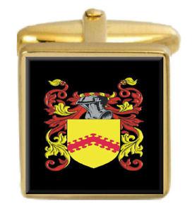 【送料無料】メンズアクセサリ― ライデルスコットランドカフスボタンボックスコートrydell scotland family crest surname coat of arms gold cufflinks engraved box