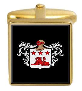 【送料無料】メンズアクセサリ― スコットランドカフスボタンボックスコートspence scotland family crest surname coat of arms gold cufflinks engraved box
