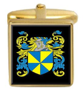 【送料無料】メンズアクセサリ― マシュースコットランドカフスボタンボックスコートmathew scotland family crest surname coat of arms gold cufflinks engraved box